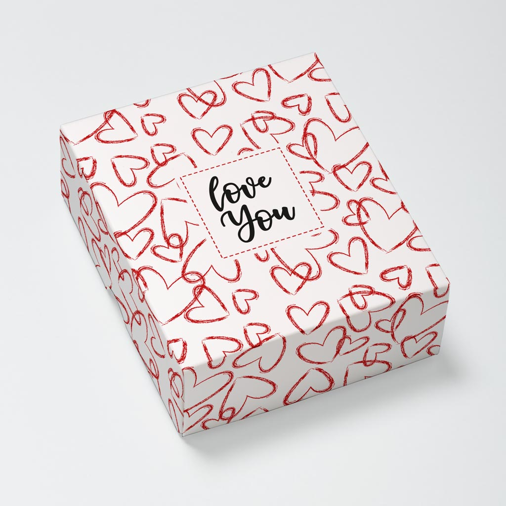 Red Hearts Photouch Box