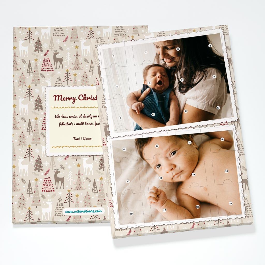 Trees Christmas Photouch Calendar Back